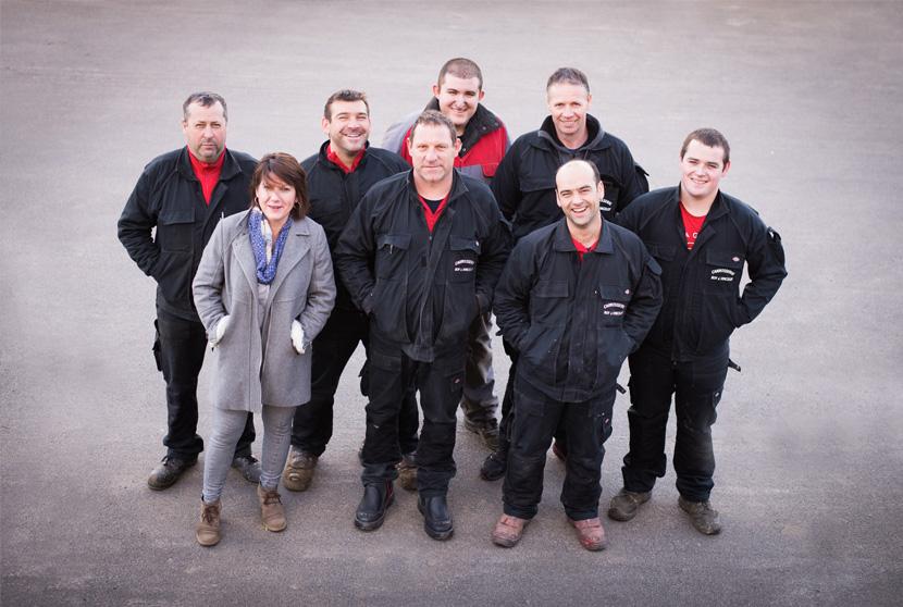 L'équipe de la Carrosserie Roy-Vincelot